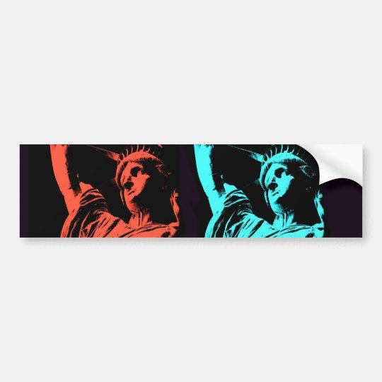 Statue of Liberty Collage Bumper Sticker