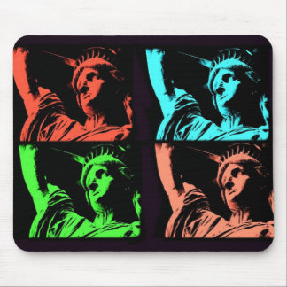 Statue of Liberty Collage Mouse Mat