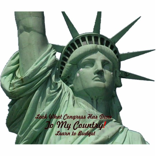 Statue of Liberty Crying Standing Photo Sculpture