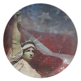 Statue of Liberty Custom Dinner Plate