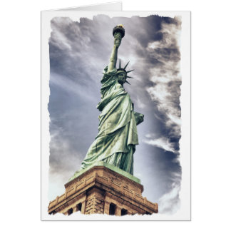 Statue of Liberty custom greeting card