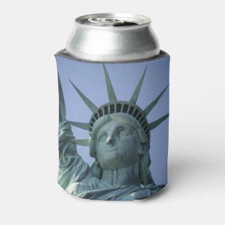 Statue of Liberty custom monogram can cooler