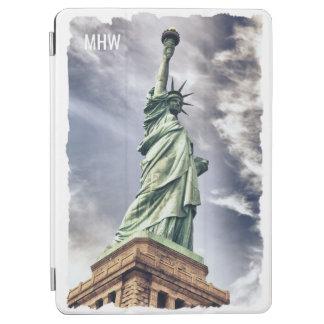 Statue of Liberty custom monogram device covers iPad Air Cover