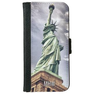 Statue of Liberty custom monogram phone wallets