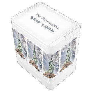 Statue of Liberty custom name cooler Igloo Cool Box