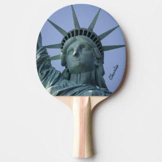 Statue of Liberty custom name ping pong paddle