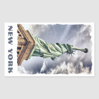 Statue of Liberty custom text stickers