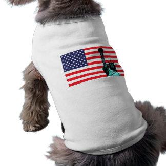 Statue of Liberty Dog Jacket Dog T-shirt