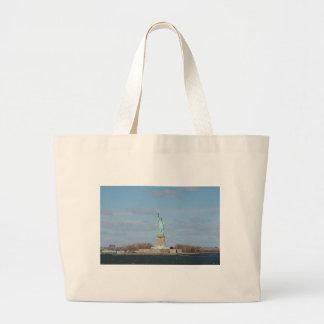 Statue Of Liberty Ellis Island Canvas Bag