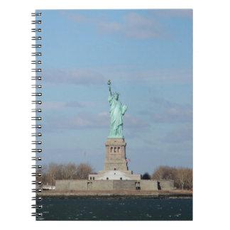 Statue Of Liberty Ellis Island Spiral Notebook