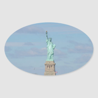 Statue Of Liberty Ellis Island Oval Sticker