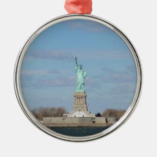 Statue Of Liberty Ellis Island Silver-Colored Round Decoration