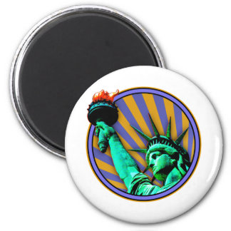 Statue of Liberty Emblem 6 Cm Round Magnet