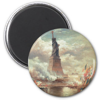 Statue Of Liberty Enlightening the World 6 Cm Round Magnet
