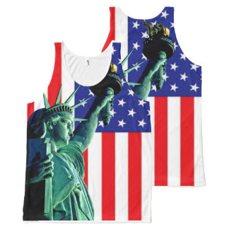 Statue of Liberty for All-Over-Printed-Unisex-Vest All-Over Print Tank Top