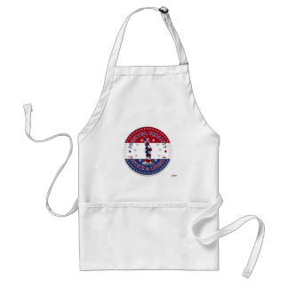 Statue of Liberty FREEDOM,EQUALITY,JUSTICE,LIBERTY Aprons