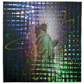 Statue of Liberty  Freiheitsstatue New York 4 Printed Napkins