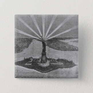 Statue of Liberty, from 'The Graphic' 15 Cm Square Badge