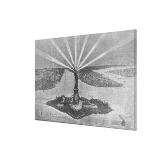 Statue of Liberty, from 'The Graphic' Canvas Print