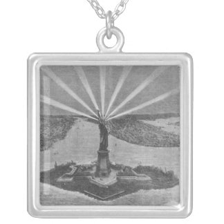 Statue of Liberty, from 'The Graphic' Silver Plated Necklace