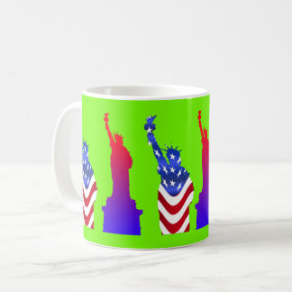 Statue of Liberty Green Coffee Mug