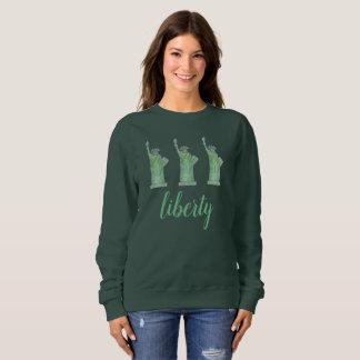 Statue of Liberty Green Lady Liberty New York City Sweatshirt
