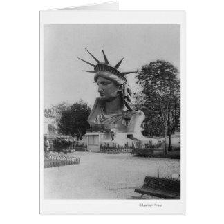 Statue of Liberty Head - Paris Park Card
