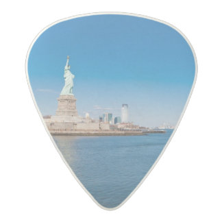 Statue of Liberty, Hudson River and Manhattan Acetal Guitar Pick