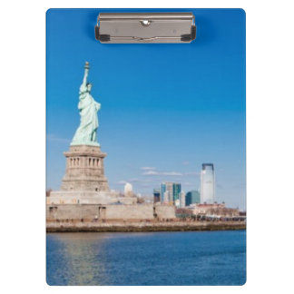 Statue of Liberty, Hudson River and Manhattan Clipboard