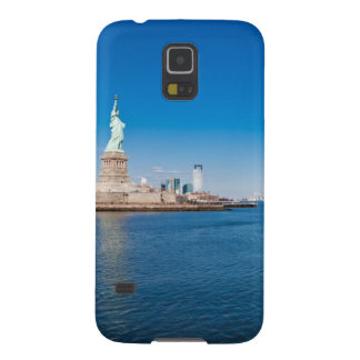 Statue of Liberty, Hudson River and Manhattan Galaxy S5 Cover