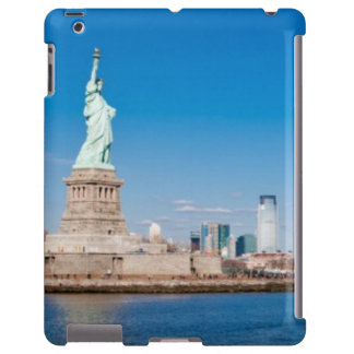 Statue of Liberty, Hudson River and Manhattan iPad Case