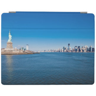 Statue of Liberty, Hudson River and Manhattan iPad Cover
