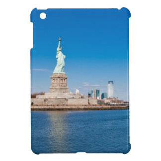 Statue of Liberty, Hudson River and Manhattan iPad Mini Covers