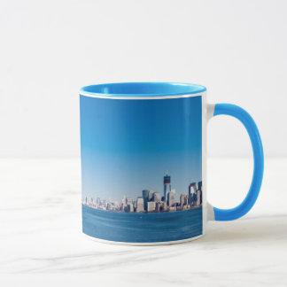 Statue of Liberty, Hudson River and Manhattan Mug