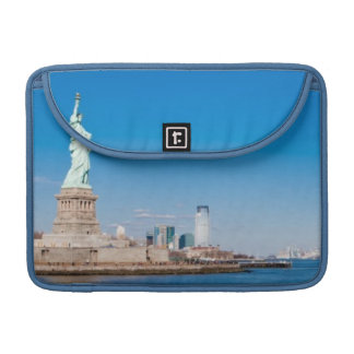 Statue of Liberty, Hudson River and Manhattan Sleeve For MacBooks