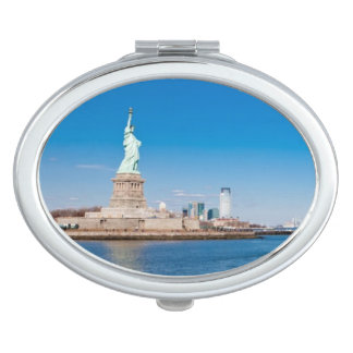Statue of Liberty, Hudson River and Manhattan Travel Mirror