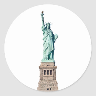 Statue of Liberty in New York Classic Round Sticker
