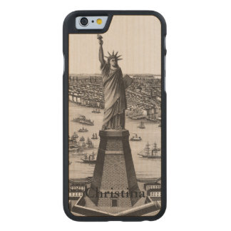 Statue Of Liberty In New York Harbor Carved Maple iPhone 6 Case