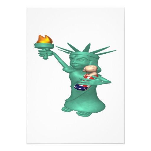 Statue Of Liberty Personalized Invitation