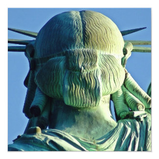 Statue of Liberty 5.25x5.25 Square Paper Invitation Card
