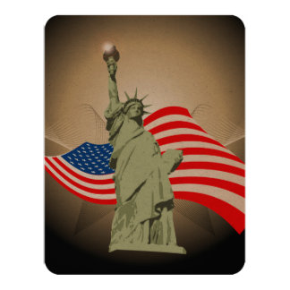 Statue of Liberty 4.25x5.5 Paper Invitation Card