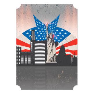 Statue of Liberty 5x7 Paper Invitation Card