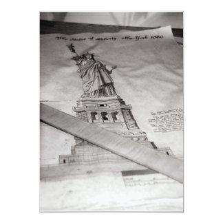 """Statue of Liberty invitations 5"""" X 7"""" Invitation Card"""