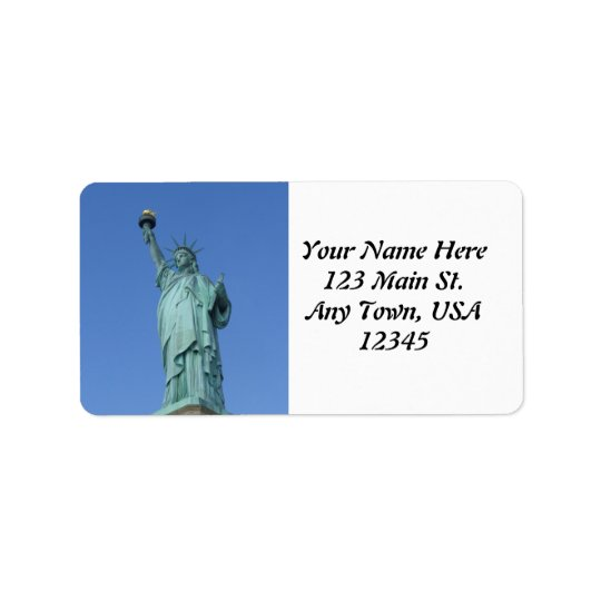 Statue of Liberty Label