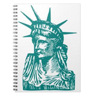 Statue of Liberty Lady Liberty Spiral Notebook