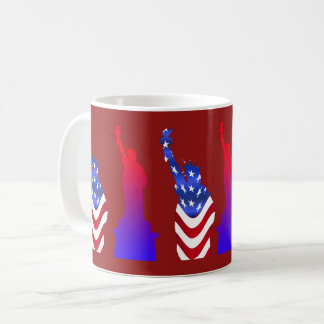 Statue of Liberty Maroon Coffee Mug