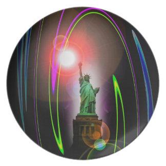Statue of Liberty Melamine Plate