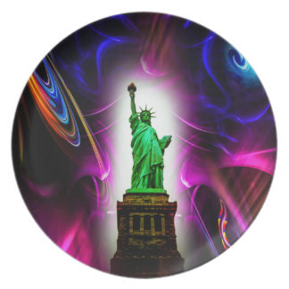 Statue of Liberty Melamine Plate 2