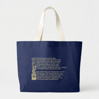 Statue of Liberty - New Colossus Patriotic Poem Large Tote Bag