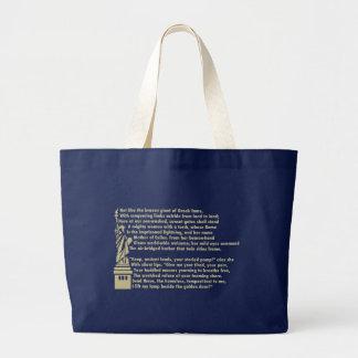 Statue of Liberty - New Colossus Patriotic Poem Large Tote Bag